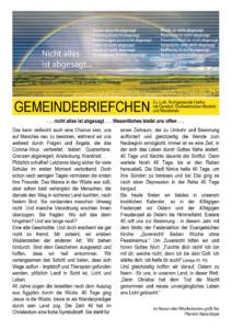 Gemeindebrief 2 - 2020