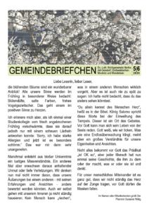 Gemeindebrief 3 - 2020