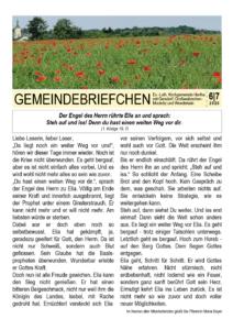 Gemeindebrief 4 - 2020