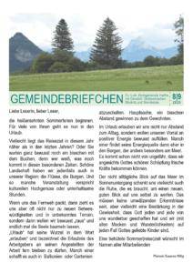 Gemeindebrief 5 - 2020