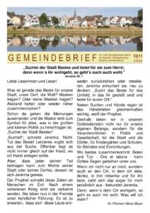 Gemeindebrief 6 - 2020
